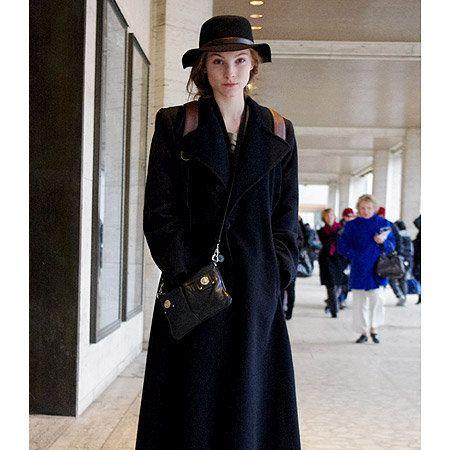 Clothing, Footwear, Sleeve, Hat, Coat, Outerwear, Style, Street fashion, Dress, Overcoat,