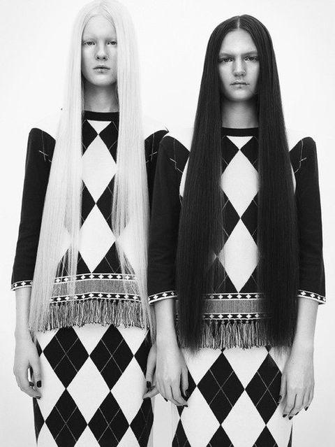 Eye, Style, Pattern, Fashion, Long hair, Black-and-white, Fashion design, Makeover, Pattern, Fashion model,