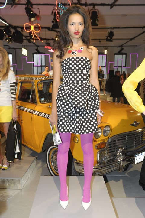 Clothing, Leg, Automotive design, Dress, Human leg, Style, Fashion accessory, Grille, Fashion, High heels,