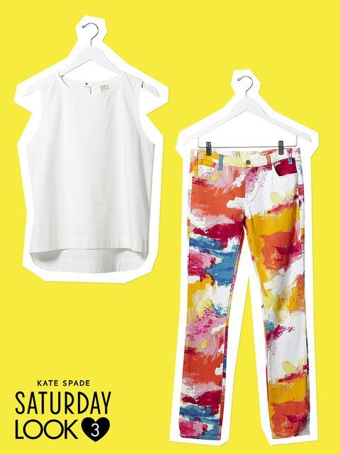 Product, Yellow, Sleeve, White, Clothes hanger, Pattern, Fashion, Fashion design, Design, Illustration,