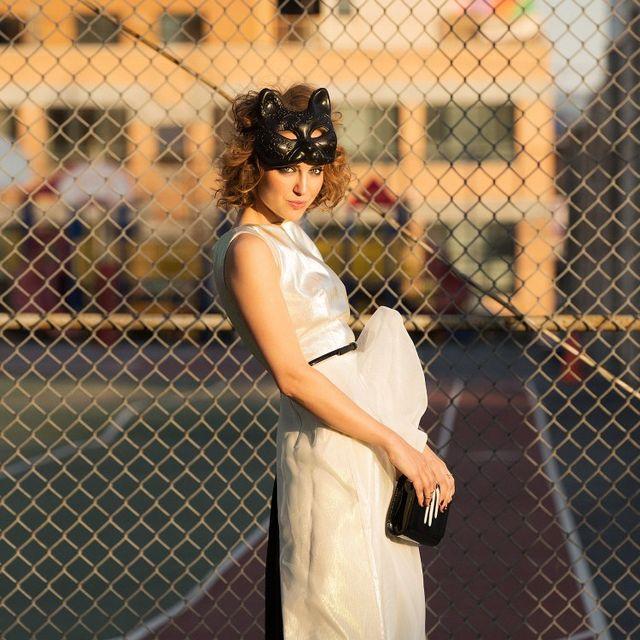 Wire fencing, Dress, Mesh, Human leg, High heels, Fashion accessory, Sandal, Street fashion, Chain-link fencing, One-piece garment,