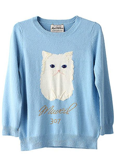 Blue, Product, Sleeve, Textile, White, Pattern, Sweater, Azure, Baby & toddler clothing, Moustache,