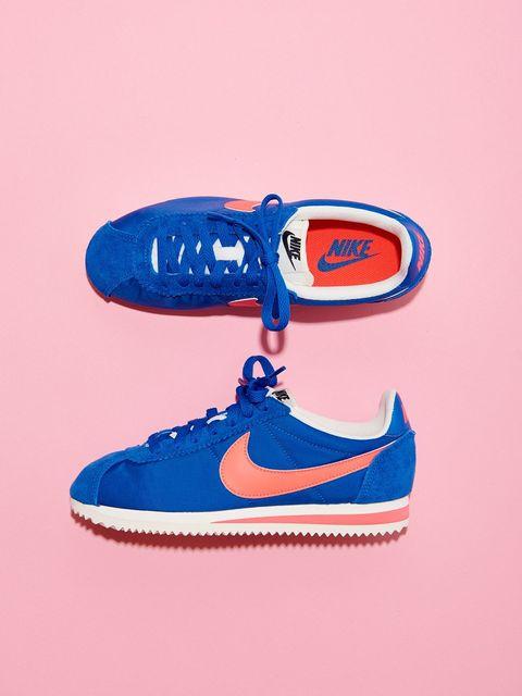 Footwear, Blue, Carmine, Electric blue, Orange, Walking shoe, Outdoor shoe, Nike free, Skate shoe, Graphics,