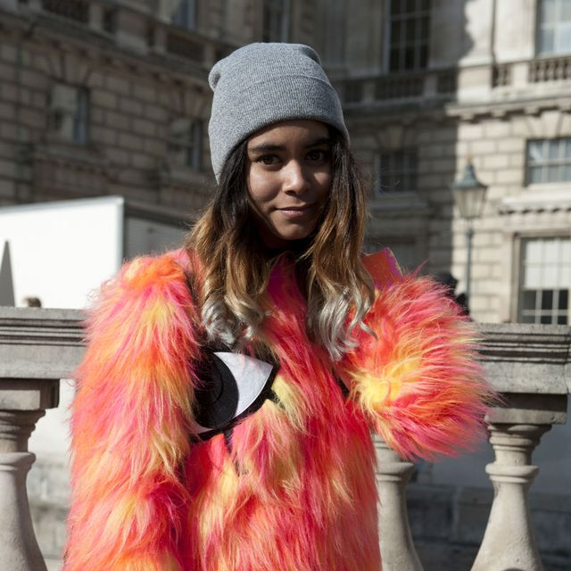 Cap, Textile, Pink, Style, Magenta, Street fashion, Winter, Fashion accessory, Fur clothing, Natural material,