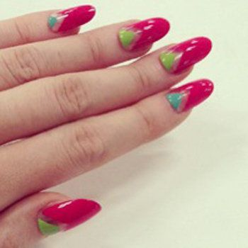 Blue, Finger, Nail care, Nail, Nail polish, Manicure, Red, Magenta, Pink, Purple,