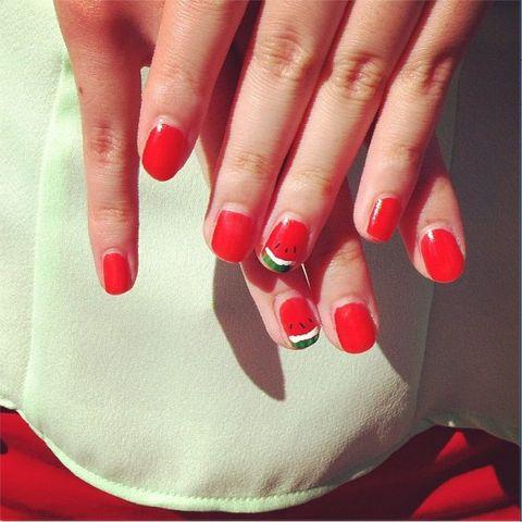 Finger, Skin, Red, Nail, White, Nail care, Nail polish, Manicure, Toe, Carmine,