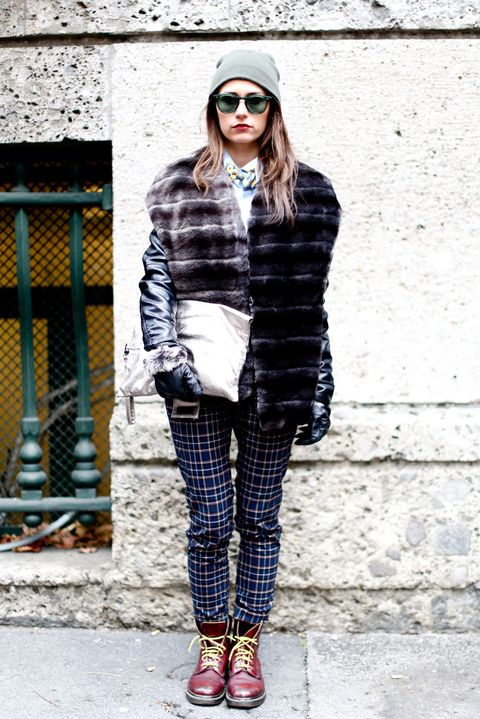Clothing, Sleeve, Textile, Outerwear, White, Sunglasses, Style, Street fashion, Fashion accessory, Pattern,