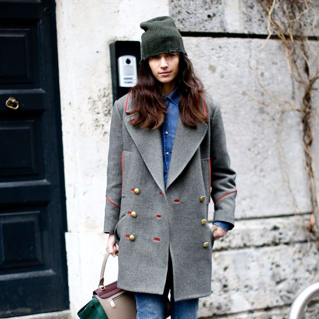 Clothing, Sleeve, Collar, Trousers, Shoulder, Door, Denim, Coat, Textile, Outerwear,