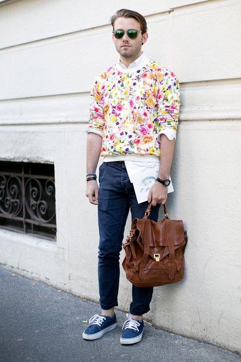 Clothing, Eyewear, Vision care, Glasses, Brown, Trousers, Shoe, Denim, Sunglasses, Textile,