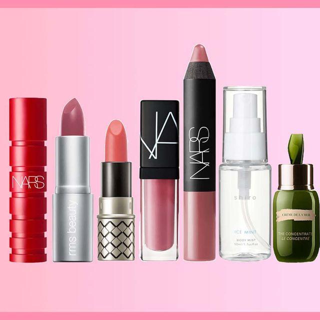 Product, Pink, Cosmetics, Lipstick, Beauty, Red, Liquid, Tints and shades, Lip gloss, Lip,
