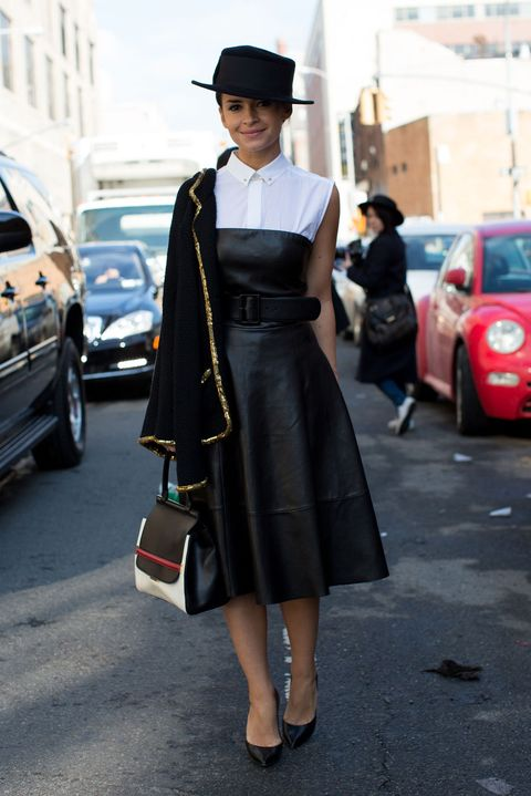 Clothing, Footwear, Hat, Bag, Dress, Outerwear, Style, Street fashion, Fashion accessory, Street,