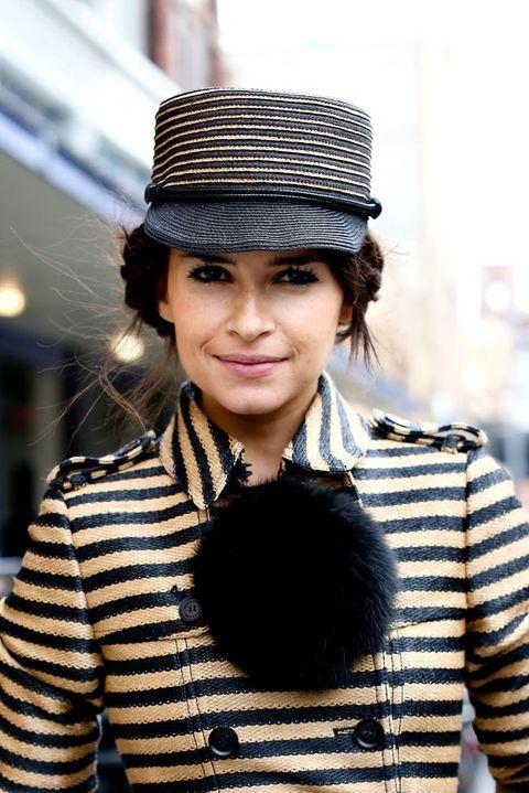 Sleeve, Textile, Outerwear, Style, Street fashion, Headgear, Jacket, Black hair, Winter, Costume accessory,