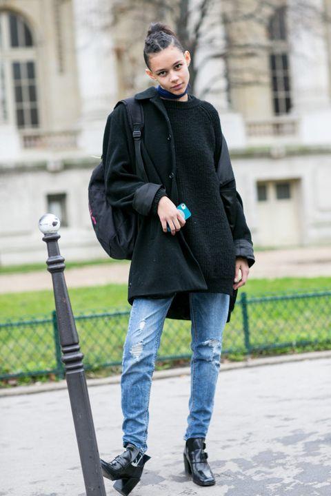 Clothing, Footwear, Leg, Sleeve, Trousers, Coat, Jeans, Denim, Shoe, Outerwear,