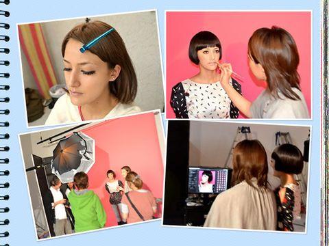 Hair, Head, Hairstyle, Eyelash, Style, Collage, Organ, Notebook, Hair accessory, Lipstick,