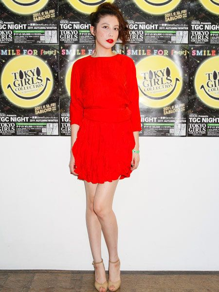 Leg, Yellow, Dress, Human leg, Red, Style, One-piece garment, Cocktail dress, Logo, Day dress,