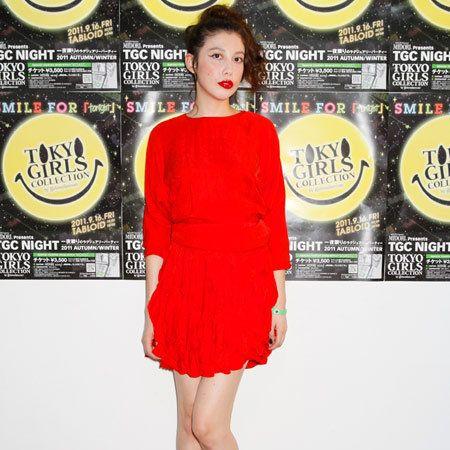 Yellow, Dress, Human leg, Red, Style, One-piece garment, Cocktail dress, Logo, Day dress, Fashion,