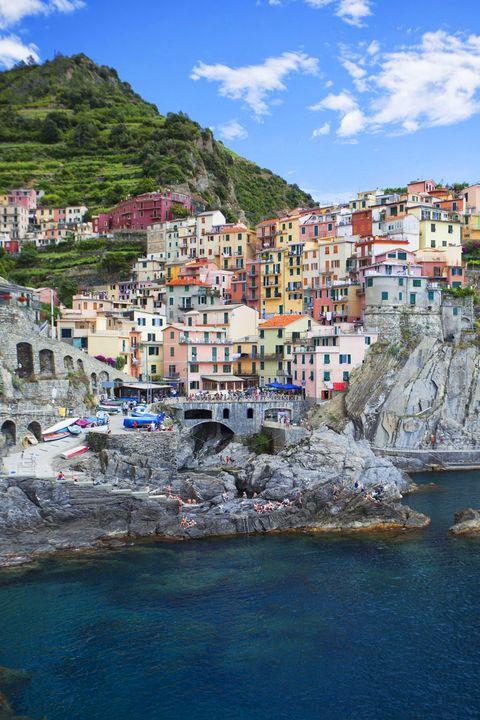 Town, Coast, Sea, Human settlement, Harbor, Village, Tourism, Sky, Azure, Vacation,