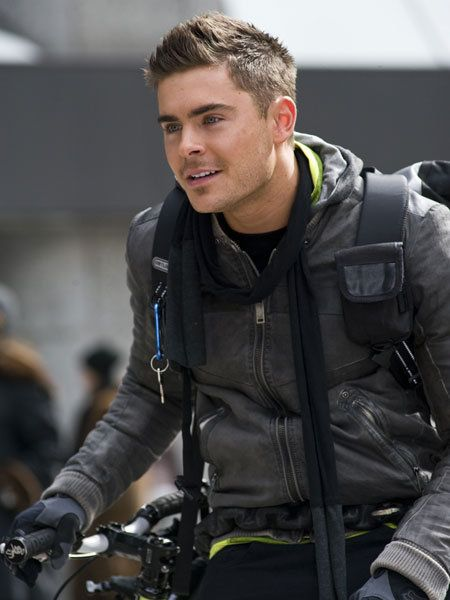 Jacket, Leather, Leather jacket, Bicycle handlebar, Crew cut, Glove, Bicycle, Bicycles--Equipment and supplies, Mohawk hairstyle, Rocker,
