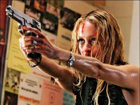 Wrist, Fashion accessory, Watch, Bracelet, Muscle, Shooting, Blond, Brown hair, Revolver, Long hair,