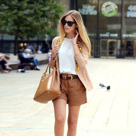 Clothing, Brown, Textile, Bag, Outerwear, Human leg, Style, Fashion accessory, Street fashion, Sunglasses,