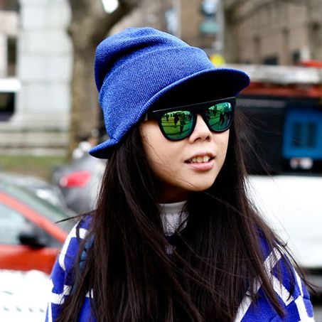 Eyewear, Glasses, Vision care, Sleeve, Sunglasses, Textile, Outerwear, Pattern, Street fashion, Electric blue,