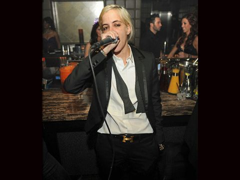 Microphone, Dress shirt, Music, Musician, Shirt, Collar, Drum, Music artist, Suit trousers, Idiophone,