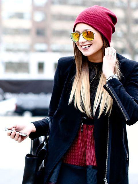 Clothing, Eyewear, Glasses, Coat, Textile, Outerwear, Jacket, Style, Street fashion, Winter,