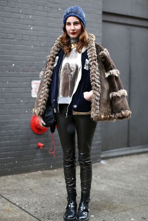 Clothing, Brown, Winter, Textile, Outerwear, Jacket, Coat, Style, Street fashion, Fashion accessory,