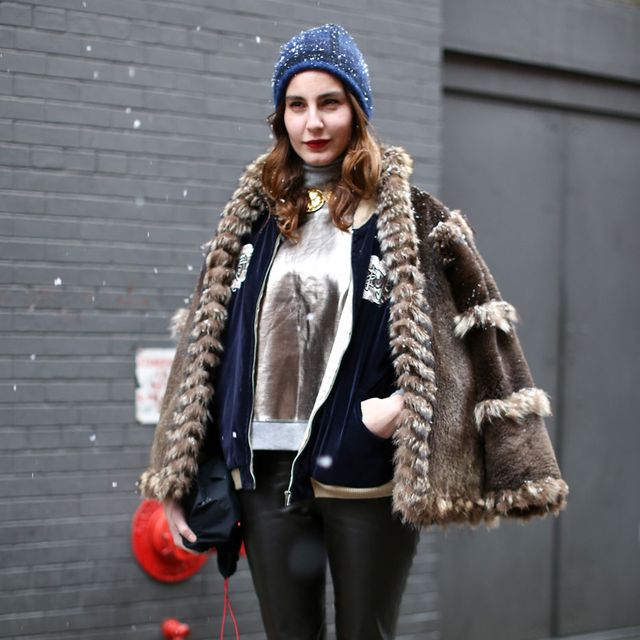 Clothing, Brown, Winter, Textile, Outerwear, Jacket, Coat, Style, Street fashion, Fur clothing,