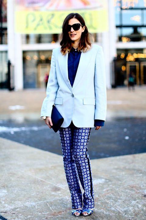 Clothing, Sleeve, Textile, Outerwear, Collar, Street fashion, Style, Sunglasses, Fashion accessory, Blazer,