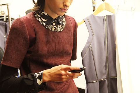 Sleeve, Textile, Jewellery, Sweater, Watch, Fashion accessory, Fashion, Wrist, Necklace, Fashion design,