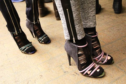 Footwear, Human leg, Style, Fashion, Street fashion, Leather, Foot, Boot, Knee-high boot, Ankle,