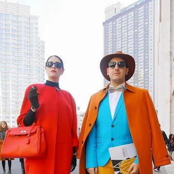 Clothing, Footwear, Outerwear, Hat, Orange, Style, Street fashion, Bag, Collar, Fashion accessory,