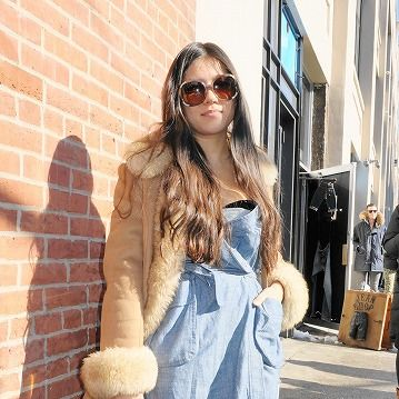 Clothing, Eyewear, Shoulder, Textile, Bag, Sunglasses, Outerwear, Style, Brick, Street fashion,