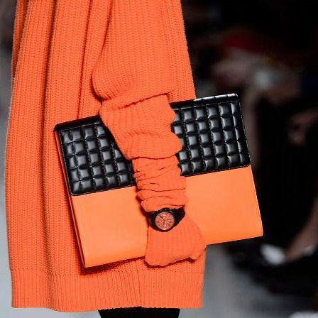 Sleeve, Textile, Pattern, Street fashion, Orange, Bag, Fashion, Nail, Wallet, Design,