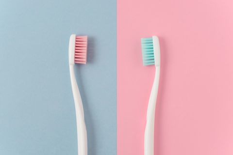 Brush, Toothbrush, Pink, Tooth brushing, Personal care, Tooth, Hair accessory,