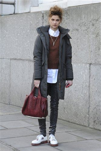 Clothing, Brown, Trousers, Textile, Photograph, Outerwear, Jacket, Bag, White, Fashion accessory,
