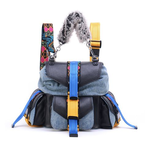 Bag, Handbag, Fashion accessory, Backpack, Material property, Font, Shoulder bag, Luggage and bags, Strap, Leather,