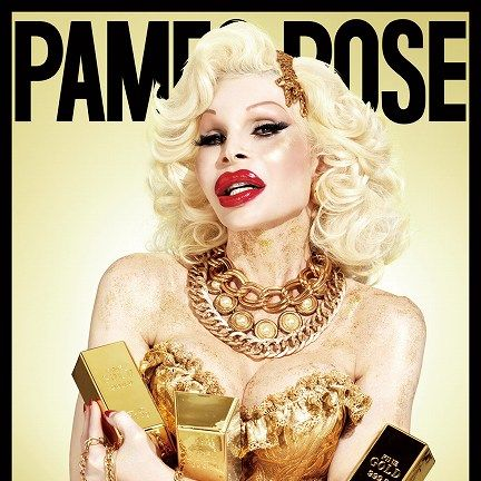 Jewellery, Fashion accessory, Fashion, Lipstick, Eyelash, Poster, Publication, Blond, Necklace, Eye liner,