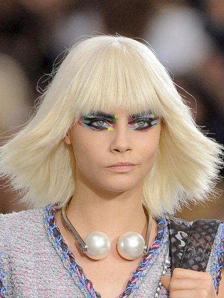 Lip, Hairstyle, Eyelash, Fashion accessory, Style, Wig, Body jewelry, Blond, Beauty, Fashion,