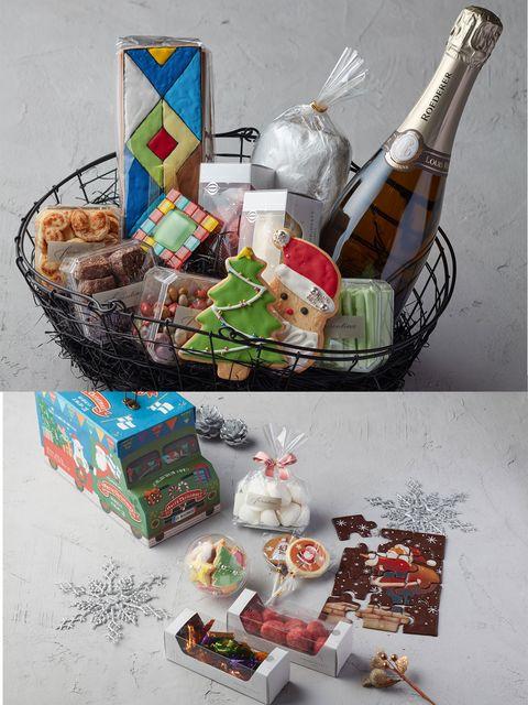 Hamper, Present, Mishloach manot, Gift basket, Basket, Home accessories, Food, Ritual,