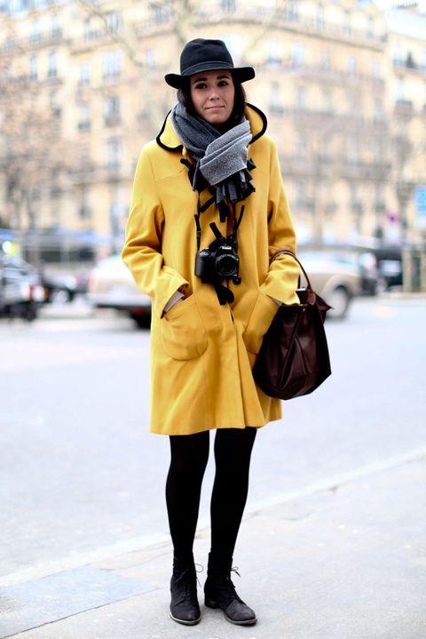 Clothing, Sleeve, Textile, Hat, Outerwear, Coat, Bag, Street fashion, Style, Fashion accessory,