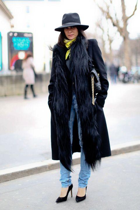 Clothing, Winter, Hat, Textile, Outerwear, Street fashion, Style, Jacket, Headgear, Street,