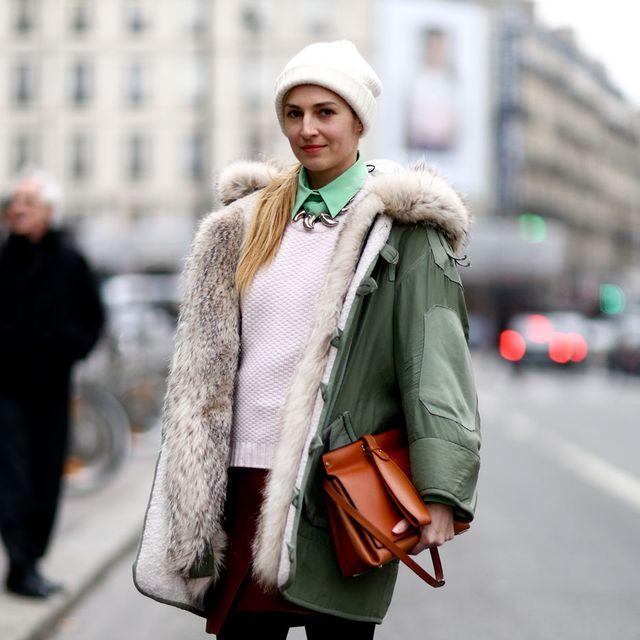 Leg, Winter, Textile, Road, Outerwear, Bag, Street, Street fashion, Style, Jacket,