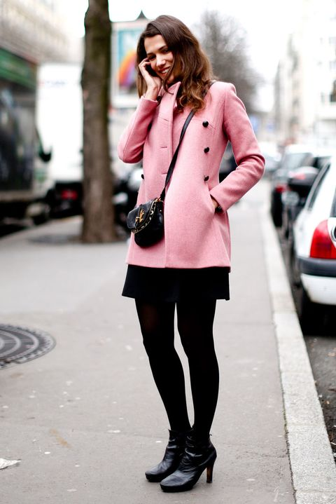 Clothing, Footwear, Sleeve, Textile, Outerwear, Collar, Street, Style, Street fashion, Coat,