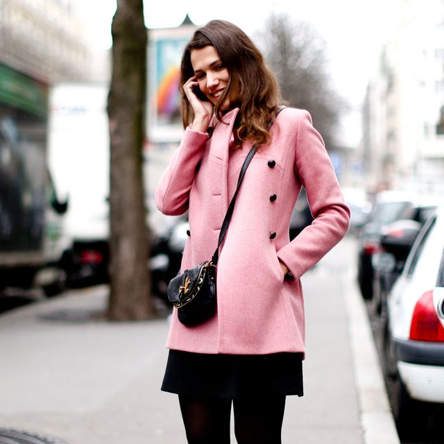 Clothing, Footwear, Sleeve, Textile, Collar, Outerwear, Street, Style, Street fashion, Coat,