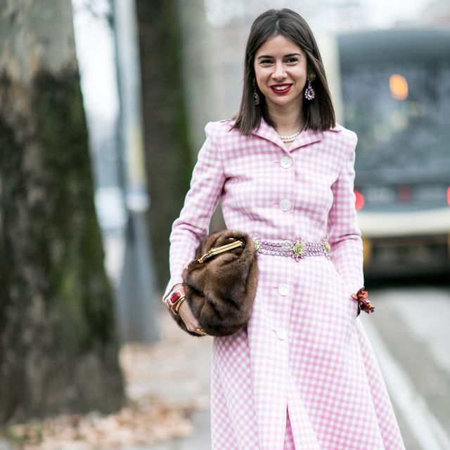 Clothing, Brown, Sleeve, Textile, Outerwear, Fashion accessory, Street fashion, Pink, Style, Dress,