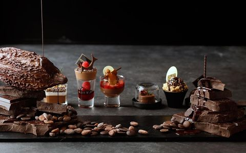 Sweetness, Dessert, Toy, Chocolate, Still life photography, Figurine, Confectionery, Petit four, Action figure, Candy,