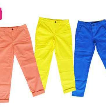 Clothing, Blue, Product, Yellow, Brown, Trousers, Textile, Denim, White, Orange,