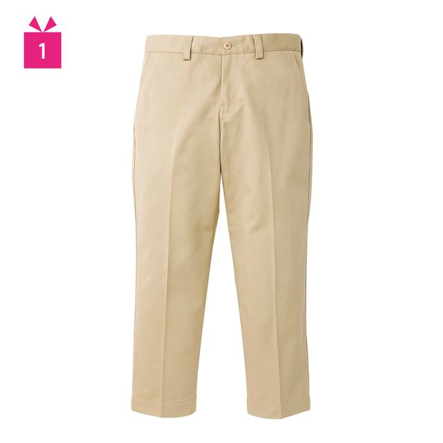 Clothing, Brown, Product, Yellow, Trousers, Khaki, Textile, Standing, White, Pocket,